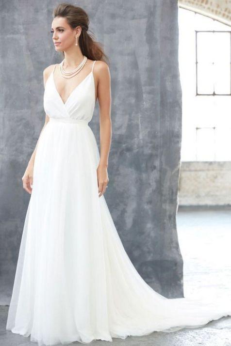 Spaghetti Strap Wedding Day Dresses Gowns ideas 51