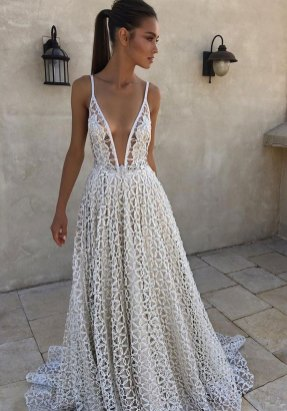 Spaghetti Strap Wedding Day Dresses Gowns ideas 61