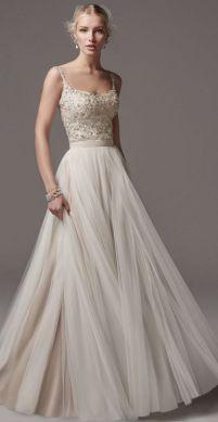 Spaghetti Strap Wedding Day Dresses Gowns ideas 67