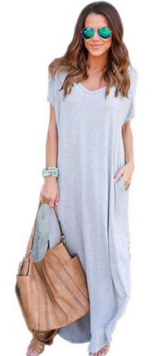 Women Casual Long Maxi Dresses with Pockets ideas 20