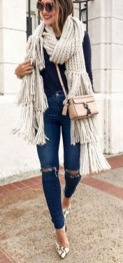 World of jeans cute winter outfits ideas 2