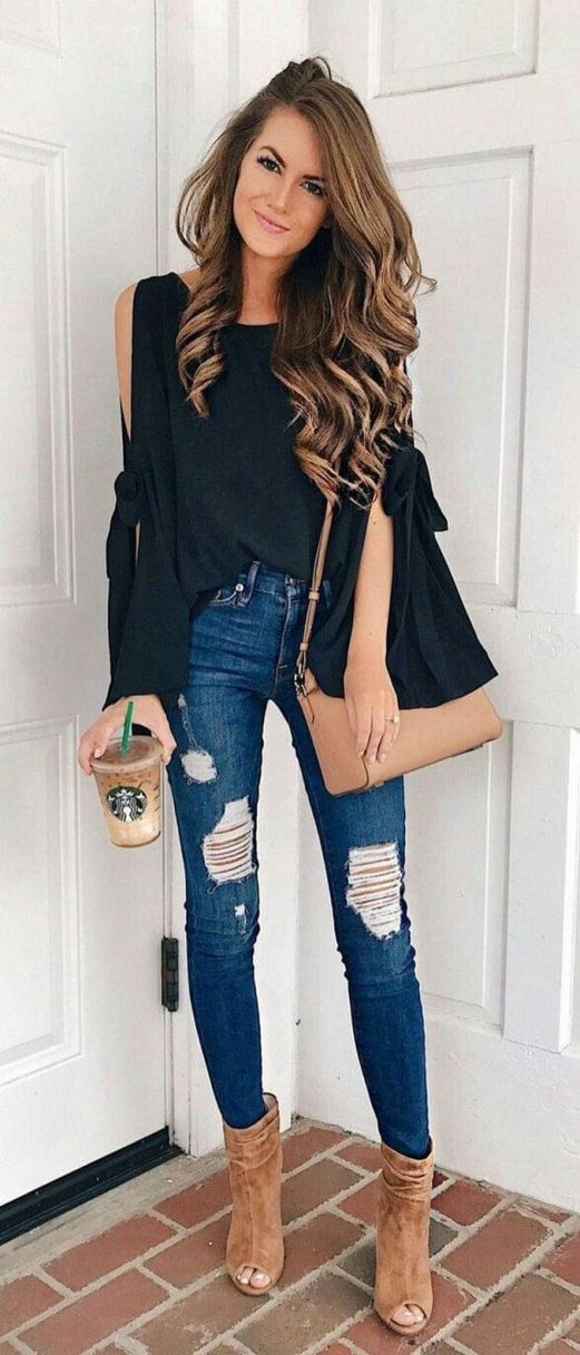 World of jeans cute winter outfits ideas 21