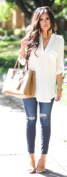 World of jeans cute winter outfits ideas 33
