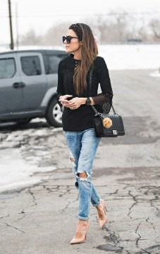 World of jeans cute winter outfits ideas 9