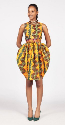 african prints short dresses 1