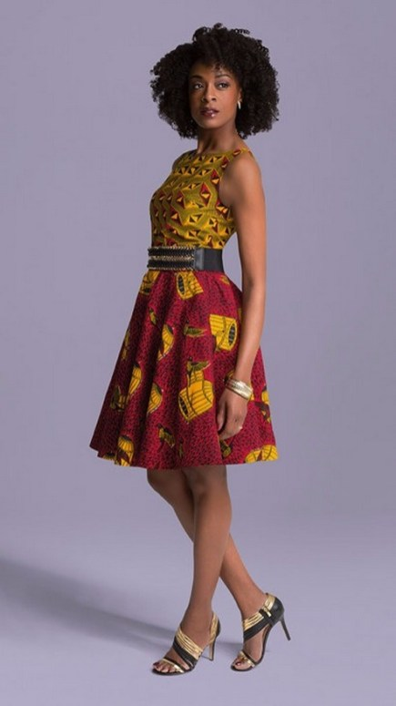 african prints short dresses 14