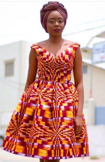african prints short dresses 37