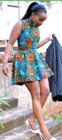 african prints short dresses 42