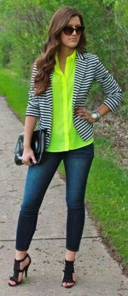 black and white striped blazer womens 21
