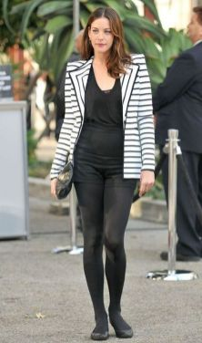 black and white striped blazer womens 31