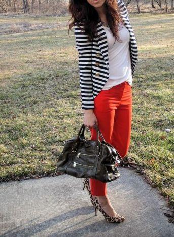 black and white striped blazer womens 5