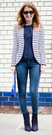 black and white striped blazer womens 51
