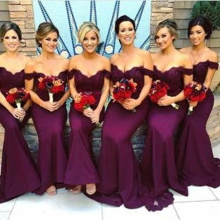 40 Bridesmaid with Mermaid Dresses to Copy Ideas 16