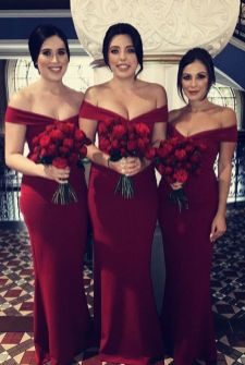 40 Bridesmaid with Mermaid Dresses to Copy Ideas 2