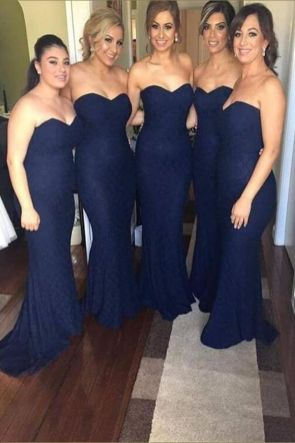40 Bridesmaid with Mermaid Dresses to Copy Ideas 20