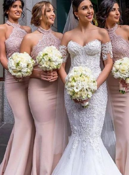 40 Bridesmaid with Mermaid Dresses to Copy Ideas 21
