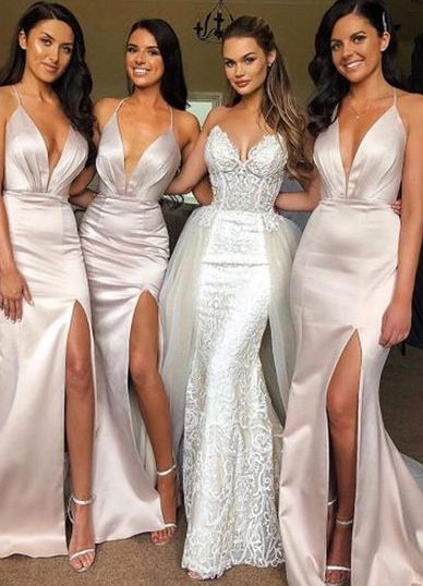 40 Bridesmaid with Mermaid Dresses to Copy Ideas 25