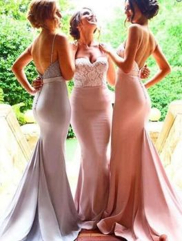 40 Bridesmaid with Mermaid Dresses to Copy Ideas 27