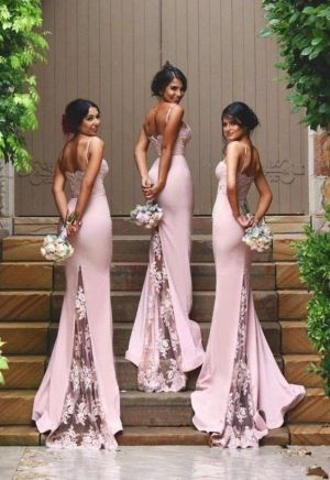 40 Bridesmaid with Mermaid Dresses to Copy Ideas 30