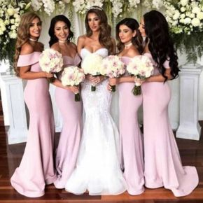 40 Bridesmaid with Mermaid Dresses to Copy Ideas 33