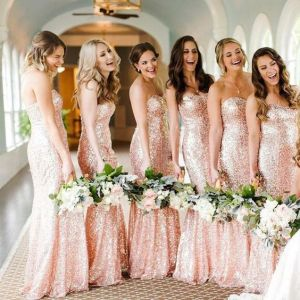 40 Bridesmaid with Mermaid Dresses to Copy Ideas 41