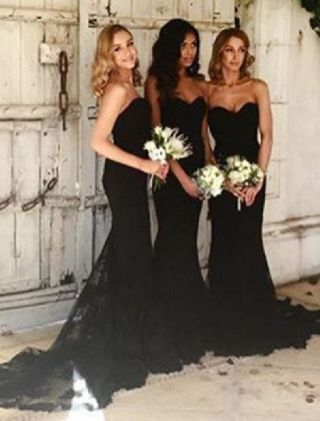 40 Bridesmaid with Mermaid Dresses to Copy Ideas 44