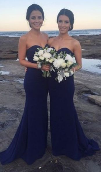 40 Bridesmaid with Mermaid Dresses to Copy Ideas 46