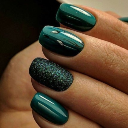 40 Chic Green Nail Art Ideas 15