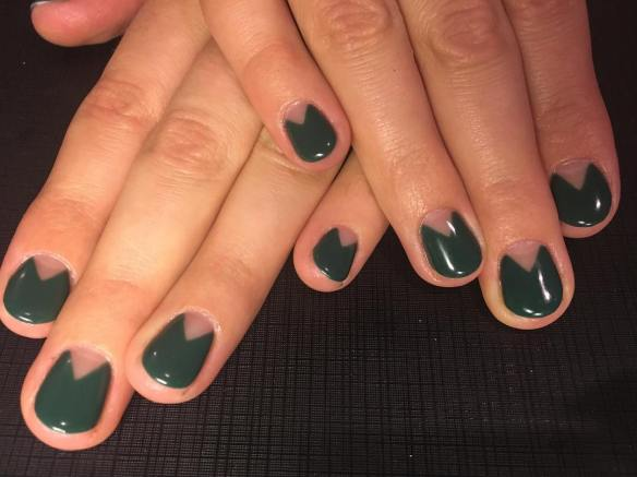 40 Chic Green Nail Art Ideas 16
