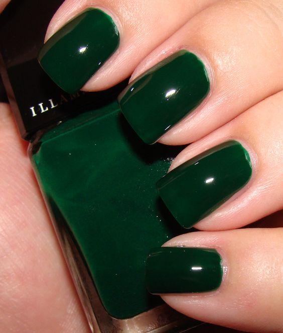 40 Chic Green Nail Art Ideas 31