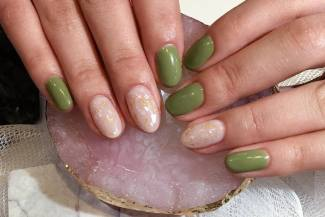 40 Chic Green Nail Art Ideas 37