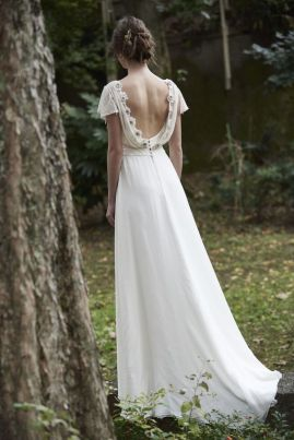 40 Deep V Open Back Wedding Dresses Ideas 1