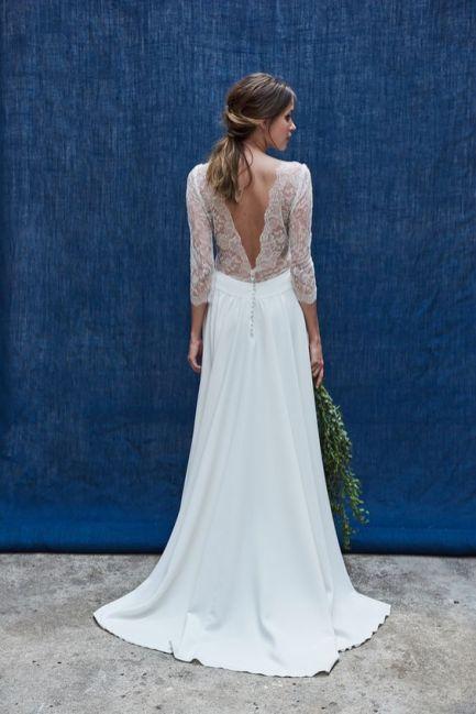 40 Deep V Open Back Wedding Dresses Ideas 11