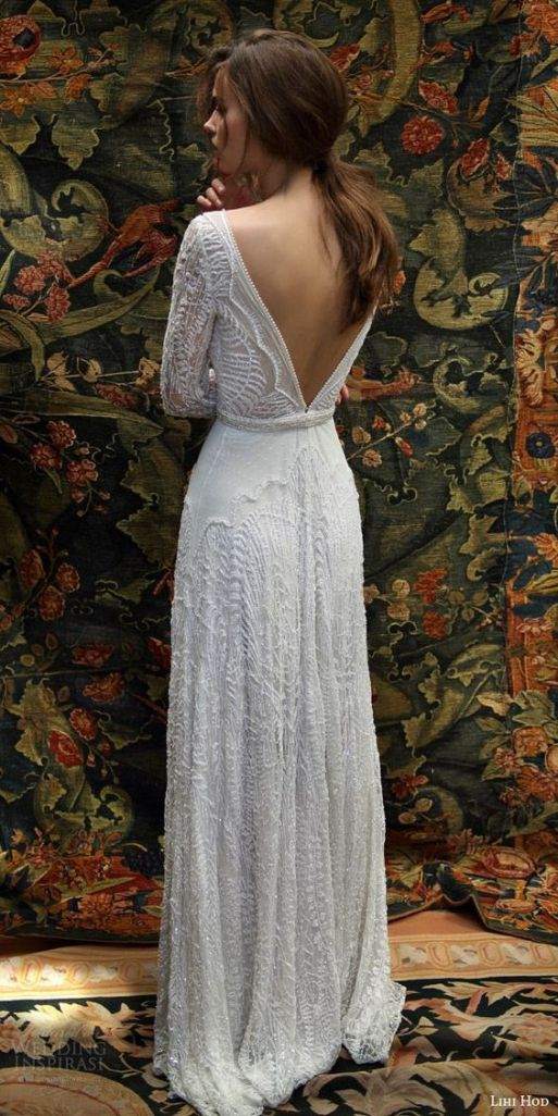 40 Deep V Open Back Wedding Dresses Ideas 13
