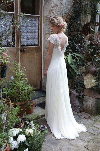 40 Deep V Open Back Wedding Dresses Ideas 19