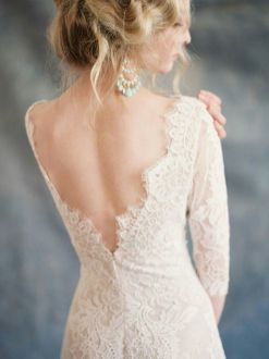 40 Deep V Open Back Wedding Dresses Ideas 21