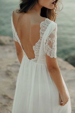 40 Deep V Open Back Wedding Dresses Ideas 22