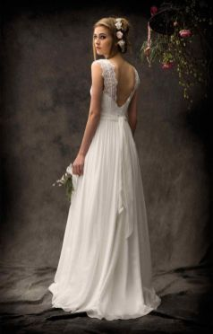 40 Deep V Open Back Wedding Dresses Ideas 23