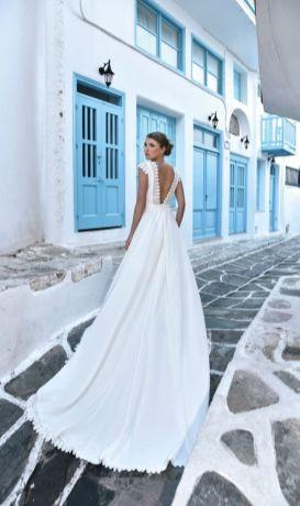 40 Deep V Open Back Wedding Dresses Ideas 24