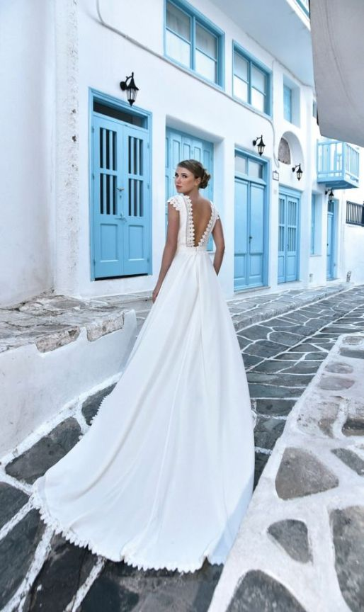 40 Deep V Open Back Wedding Dresses Ideas 24