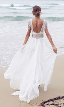 40 Deep V Open Back Wedding Dresses Ideas 26