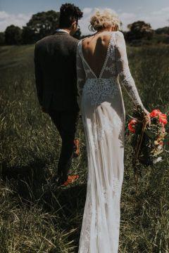 40 Deep V Open Back Wedding Dresses Ideas 27
