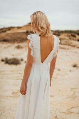 40 Deep V Open Back Wedding Dresses Ideas 29
