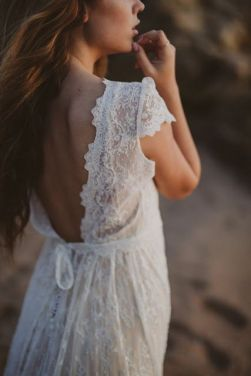 40 Deep V Open Back Wedding Dresses Ideas 32