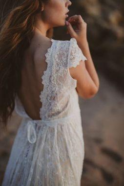 40 Deep V Open Back Wedding Dresses Ideas 32