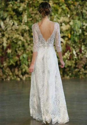 40 Deep V Open Back Wedding Dresses Ideas 4