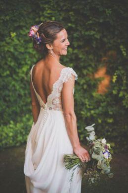 40 Deep V Open Back Wedding Dresses Ideas 41
