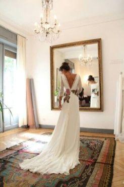 40 Deep V Open Back Wedding Dresses Ideas 43