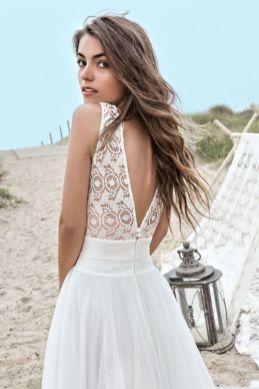 40 Deep V Open Back Wedding Dresses Ideas 5