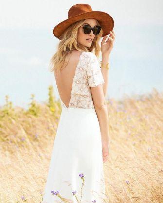 40 Deep V Open Back Wedding Dresses Ideas 6